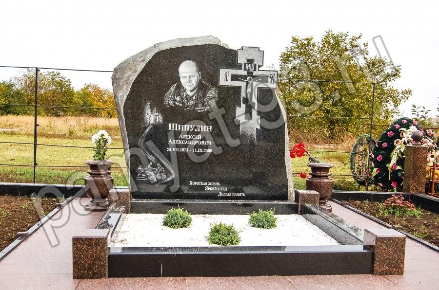 Рисунок на могильном памятнике